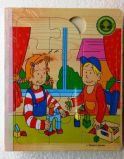 6 wooden puzzle book - Family