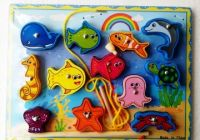 Magnetic Wooden Fishing Game - 11 Pieces